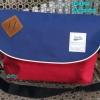 พร้อมส่ง DB-3319-สีทรีโทน กระเป๋าสะพายผ้า polyester-เนื้อหนาสไตล์ Anello ไซร์ใหญ่ 11 นิ้ว