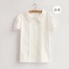Pre Order เสื้อเชิ้ตสีขาว ผ้า Cotton ไซส์ S,M แนวเกาหลี