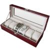 (preorder)กล่องใส่นาฬิกา ขนาด 30*11.5*7.5 cm หนังจระเข้ PVC สีแดง