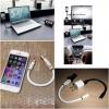 สายชาร์จแบบแข็งตั้งได้ Flexible USB Cable to Micro usb แบบ IOS( 20cm )