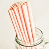 Paper Straws in Baby Pink & White Polka Dots