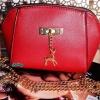 พร้อมส่ง KB-623-1-สีแดง กระเป๋าสะพายไซร์มินิน่ารักสายสะพายโซ่แต่งอะไหล่รูปกวาง