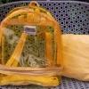 พร้อมส่ง HB-5358-สีเหลือง กระเป๋าเป้ใสพร้อมใบเล็กด้านใน