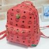พร้อมส่ง KB-230-8- สีโอรส กระเป๋าเป้สไตล์ MCM ไซร์ 8.5 นิ้ว แต่งอะไหล่และหมุด