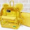 พร้อมส่ง HB-5353-สีเหลือง กระเป๋าเป้พลาสติกใส-Mickey-design-เป็นได้ทั้งเป้และสะพาย