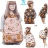 (Pre Order) กระเป๋าสะพาย ลายดอกไม้ แฟชั่นเกาหลี สไตล์วินเทจ (สีดำ/สีชมพู/สีขาว/สีน้ำตาล/สีฟ้า)