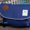 พร้อมส่ง DB-3319-สีน้ำเงิน กระเป๋าสะพายผ้า polyester-เนื้อหนาสไตล์ Anello ไซร์ใหญ่ 11 นิ้ว