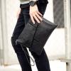 Pre-order กระเป๋าคลัทซ์ผู้ชาย ใส่ ipad 9.7 นิ้ว แฟขั่นเกาหลี Man-9902 สีดำ สำเนา