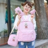 Pre-order กระเป๋าเป้สะพายหลัง เซ็ต4ใบ แฟชั่นเกาหลีน่ารัก Fashion bag รหัส G-128