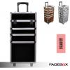 (preorder)กล่องเครื่องสำอางค์ FACEBOX แบบกระเป๋าลาก แยกเป็นสองชิ้นได้ (มี 3 แบบ)