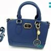 พร้อมส่ง DB-1303S-สีน้ำเงิน กระเป๋านำเข้า Saffiano-สไตล์-Lyn-polly-8 นิ้ว*แถมโลโก้และพวงกุญแจ