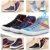 (Pre Order) รองเท้าผ้าใบ ทรงสูง สายเชือก ตกแต่งแถบสีขาวแดง สไตล์เกาหลี (สีน้ำเงิน / สีดำ / สีฟ้าอ่อน)