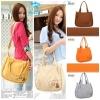 (Pre Order) กระเป๋าสะพายผ้าลดโลกร้อน พร้อมพวงกุญแจหมีน้อยน่ารัก สไตล์เกาหลี (สีเหลือง/สีเทา/สีส้ม/สีกาแฟ/สีกากี/สีเบจ)