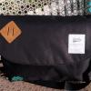 พร้อมส่ง DB-3319-สีดำ กระเป๋าสะพายผ้า polyester-เนื้อหนาสไตล์ Anello ไซร์ใหญ่ 11 นิ้ว