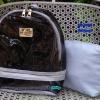 พร้อมส่ง HB-5358-สีเทา กระเป๋าเป้ใสพร้อมใบเล็กด้านใน