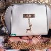 พร้อมส่ง KB-623-1-สีเงิน กระเป๋าสะพายไซร์มินิน่ารักสายสะพายโซ่แต่งอะไหล่รูปกวาง
