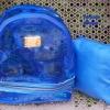 พร้อมส่ง HB-5358-สีฟ้า กระเป๋าเป้ใสพร้อมใบเล็กด้านใน