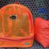พร้อมส่ง HB-5358-สีส้ม กระเป๋าเป้ใสพร้อมใบเล็กด้านใน