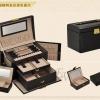 (ขายพร้อมส่ง)กล่องใส่เครื่องประดับ princess European  2in1 ขนาด 23.5*15.5*16 cm หนังจระเข้ สีดำ