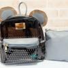พร้อมส่ง HB-5353-สีเทา กระเป๋าเป้พลาสติกใส-Mickey-design-เป็นได้ทั้งเป้และสะพาย