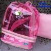 พร้อมส่ง HB-5358-สีชมพูอ่อน กระเป๋าเป้ใสพร้อมใบเล็กด้านใน