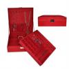 (ขายพร้อมส่ง)กล่องเครื่องประดับ หุ้มกัมมะหยี่ ขนาด 26.5*26.5*8.5 cm สีแดง