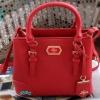 พร้อมส่ง DB-1968L-สีแดง กระเป๋าแฟชั่นสไตล์-Lyn ไซร์ 10 นิ้ว หนัง Saffiano อยู่ทรงสวย