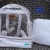 พร้อมส่ง HB-5358-สีขาว กระเป๋าเป้ใสพร้อมใบเล็กด้านใน