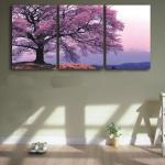 ภาพวิวแต่งห้อง ต้นไม้ใหญ่สีม่วง art-mz