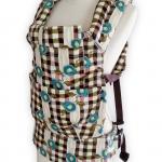 เป้อุ้มเด็ก punnita  Backpack สีน้ำตาลลายสก็อต ลายญี่ปุ่นๆ สวย