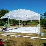 พลาสติกคุลมโรงเรือน กว้าง 7.30 เมตร ยาว 50 เมตร หนา 0.15 มิล UV7%