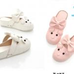 (Pre Order) รองเท้าลำลองแฟชั่นเกาหลี รูปทรงหนูน้อยน่ารัก ผูกโบว์ สีหวานสดใส