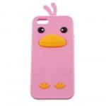 เคส iphone 5 / 5S ซิลิโคน รูปเป็ด สีชมพู พร้อมส่ง