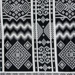 ผ้าถุงขาวดำ ec9912bk