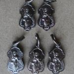 หลวงพ่อทวด วัดพะโคะ สงขลา เนื้อทองแดงรมดำ 5 เหรียญ