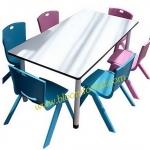 โต๊ะกิจกรรมเด็กอนุบาล 6 ที่นั่ง Teddy