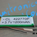 3.7V 1200mAh lithium Battery Rechargeable Polymer LiPo