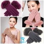 (Pre Order) ถุงมือ แฟชั่นเกาหลี ตกแต่งโบว์ บริเวณข้อมือ สไตล์หวาน (สีแดง / สีส้ม / สีเทา / สีม่วง / สีดำ / สีชมพู / สีน้ำตาล)