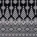 ผ้าถุงขาวดำ ec9928bk