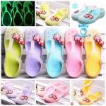 (Pre Order) รองเท้ากันน้ำ แฟชั่นเกาหลี เรืองแสงตอนกลางคืน สไตล์ซัมเมอร์ (สีม่วง/สีเหลือง/สีเขียว/สีชมพู/สีฟ้า)