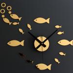 นาฬิกาปลาน้อยน่ารักสีทอง gear30