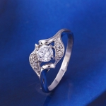 แหวนทองคำขาวเพชรสวิส