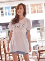 KR041(เกาหลี)เสื้อคลุมท้องให้นม มี 2 สี
