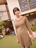 ชุดคลุมท้อง  แขนยาว ผ้าเนื้อดี มีน้ำหนัก ใส่เป็นเดรส หรือ  เสื้อคลุมท้องได้
