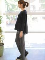 (เกาหลี) กางเกงคนท้อง สำหรับใส่สบายๆ อยู่บ้าน หรือใส่นอนก็สบายมากๆค่ะ ผ้านิ่มสุด มียางยืดเฉพาะด้านหลัง ไม่ทำให้อึดอัดหน้าท้องค่ะ