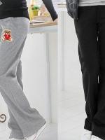 CN010 (จีน) กางเกงคนทื้อง ผ้าหนา ใส่กันหนาวได้ เอวยางยืดปรับได้มีสองสีดำ เทา
