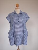 (ฮ่องกง) เสื้อคลุมท้องให้นม เป็นผ้าคอต้อนเนื้อนิ่มใสสบาย สี Navy Blue สลับขาวใส่ได้ตลอดกาลไม่มีเอาท์