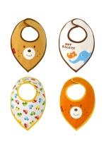 KID001 (จีน) ผ้ากันเปื้อนเด็กทารก ลายน่ารักมาก ผ้านุ่มไม่ระคายเคื้อง 1 ชุดมี 4 ชิ้น 4 ลาย