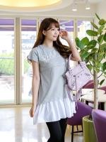 KNS013 (เกาหลี)เสื้อคลุมท้องให้นม