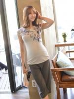 (เกาหลี) กางเหง4 ส่วนคนท้อง มียางยืดเฉพาะด้านหลัง ผ้านิ่มสุดๆ ใส่สบายจนถึงคลอดเลยค่ะ